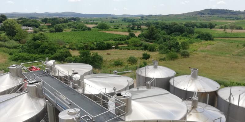 passerelles industrielles cuves viticoles