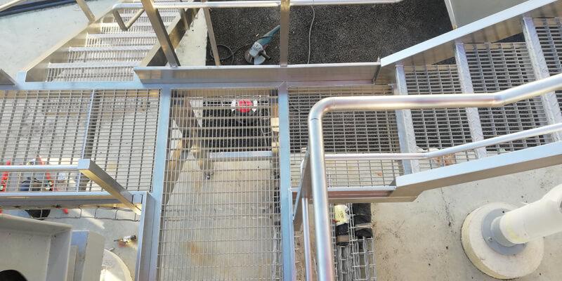 passerelles et escaliers exterieurs