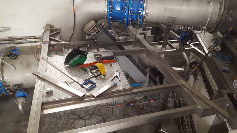 installation plateforme industrielle