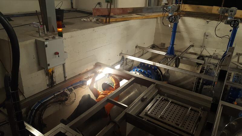 installation complexe plateforme industrielle