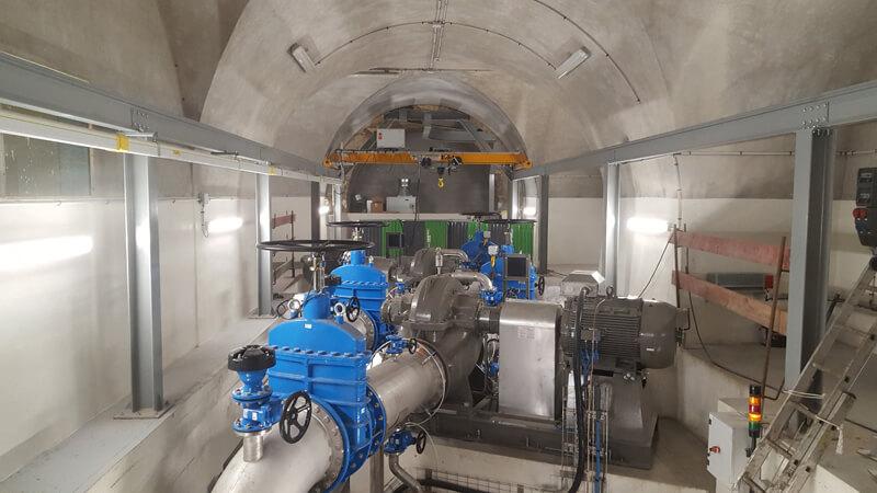 installation industrielle souterraine